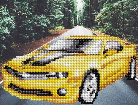 """Алмазная вышивка-мозаика """"Желтый автомобиль"""" (250х190 мм) — фото, картинка"""