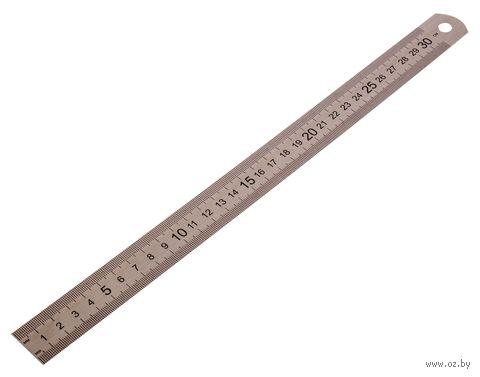 Линейка металлическая (30 см) — фото, картинка