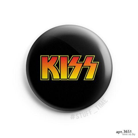 "Значок маленький ""Kiss"" (арт. 3651) — фото, картинка"