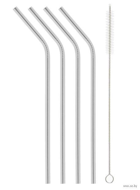 Трубочки для коктейля многоразовые (5 предметов) — фото, картинка