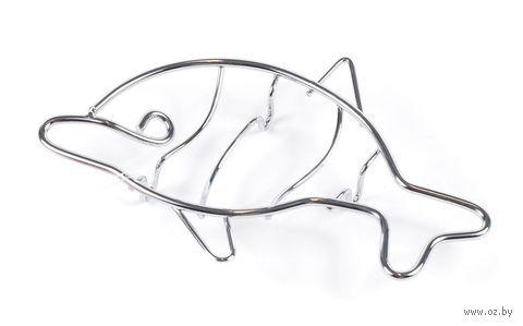 Мыльница металлическая в форме дельфина (17,5х10,5х2,5 см)