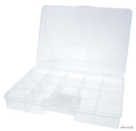 Органайзер для рукоделия (прозрачный; 20 отделений) — фото, картинка