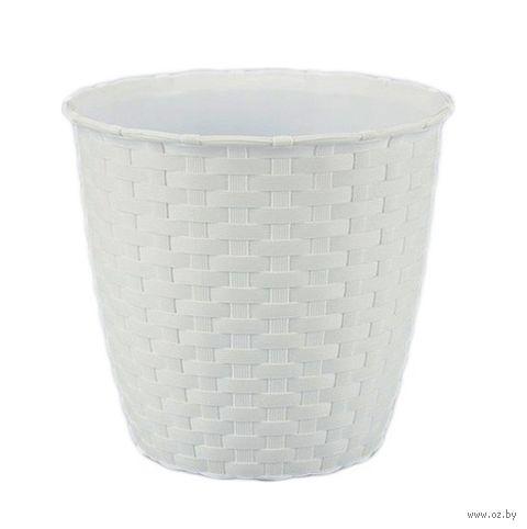 Цветочный горшок (14 см; белый) — фото, картинка