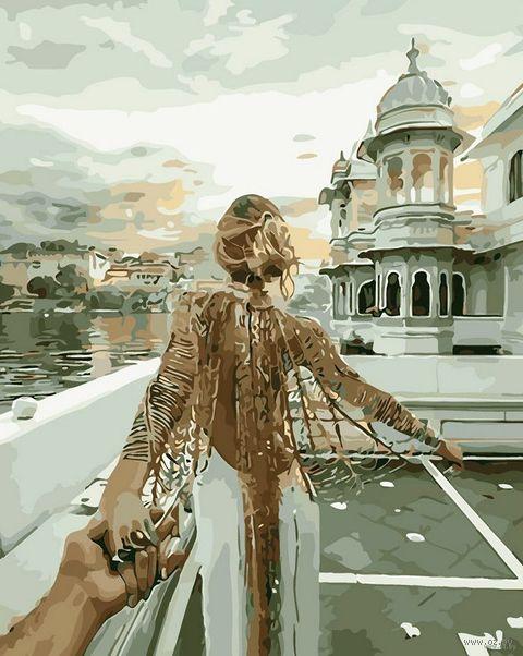 """Картина по номерам """"Следуй за мной. Озеро Удайпур"""" (400х500 мм) — фото, картинка"""