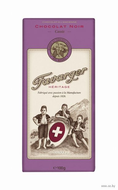 """Шоколад горький """"Favarger. Черная смородина"""" (100 г) — фото, картинка"""