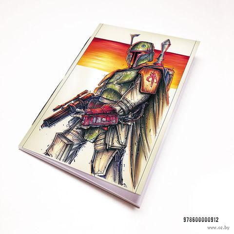 """Блокнот белый """"Звездные войны"""" А7 (912)"""