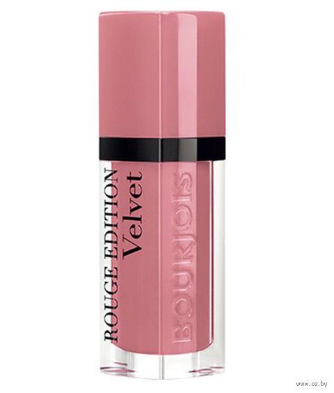"""Помада-флюид для губ """"Rouge edition velvet"""" (тон: 10, розовый нюд) — фото, картинка"""