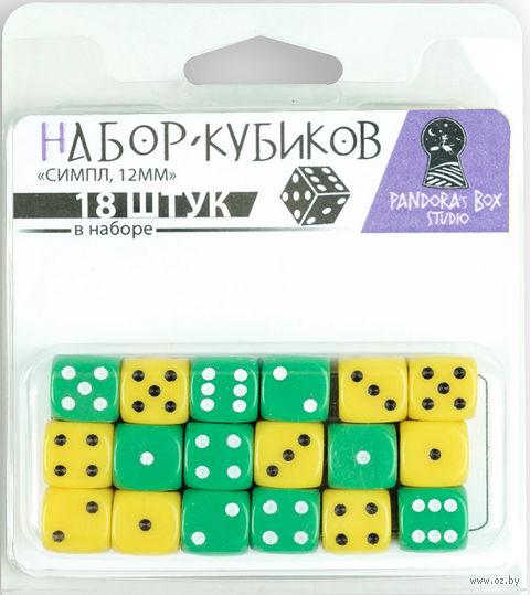 "Набор кубиков ""Симпл"" (18 шт.; зелёный, жёлтый) — фото, картинка"