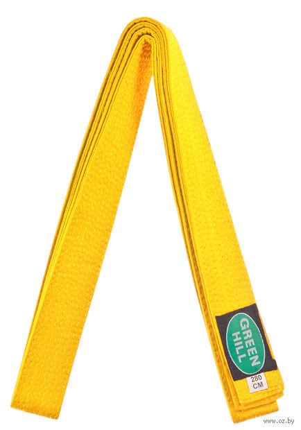 Пояс для единоборств KBO-1014 (280 см; жёлтый) — фото, картинка
