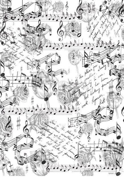 "Бумага для декупажа рисовая ""Музыка цветов"" (210х300 мм) — фото, картинка"