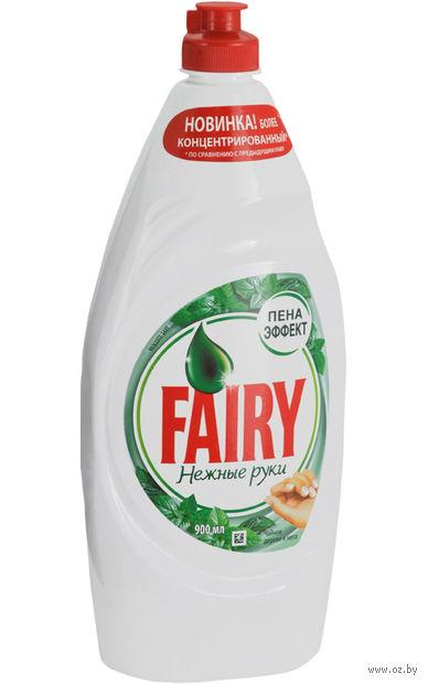 """Средство для мытья посуды """"Нежные руки. Чайное дерево и мята"""" (900 мл) — фото, картинка"""