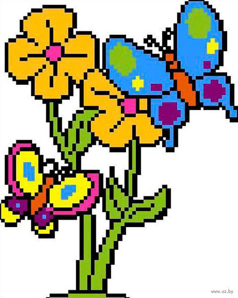 "Вышивка крестом ""Бабочки"" (185х200 мм) — фото, картинка"