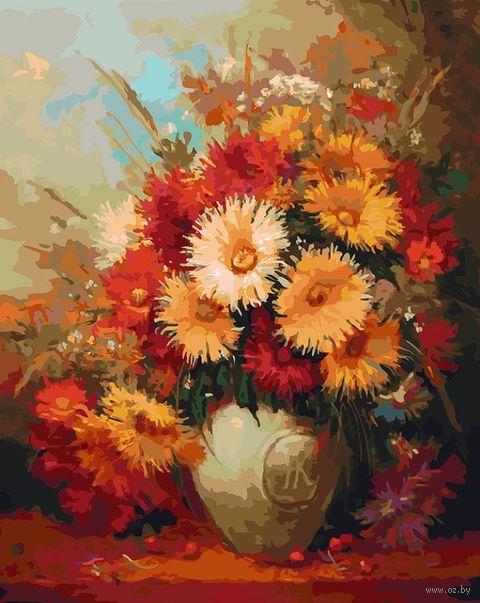 """Картина по номерам """"Хризантемы"""" (400х500 мм) — фото, картинка"""