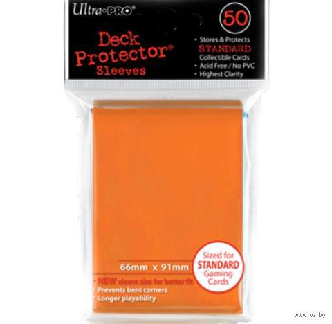 Протекторы Ultra-Pro (конфетно-оранжевые, 66*91мм)