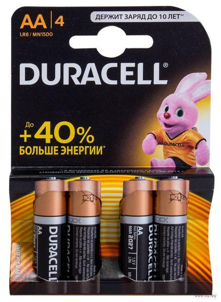 Батарейка DURACELL AA LR6 MN1500 Alkaline (4 шт)