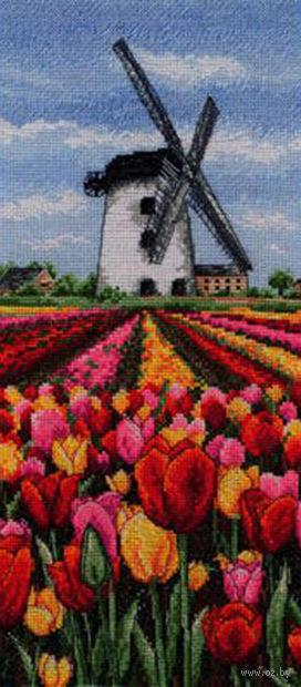 """Вышивка крестом """"Пейзаж с тюльпанами. Голландия"""""""