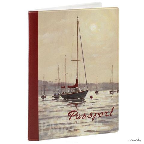 """Обложка для паспорта """"Морской пейзаж"""" (арт. 35680) — фото, картинка"""