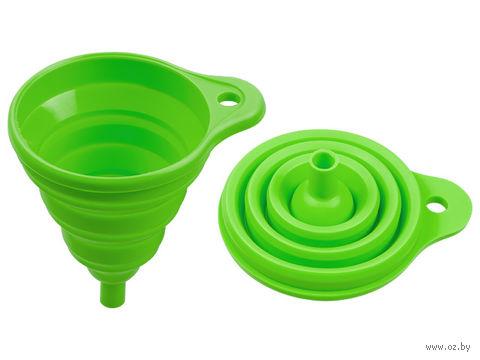 Воронка силиконовая складная (105x145 мм; зеленый) — фото, картинка