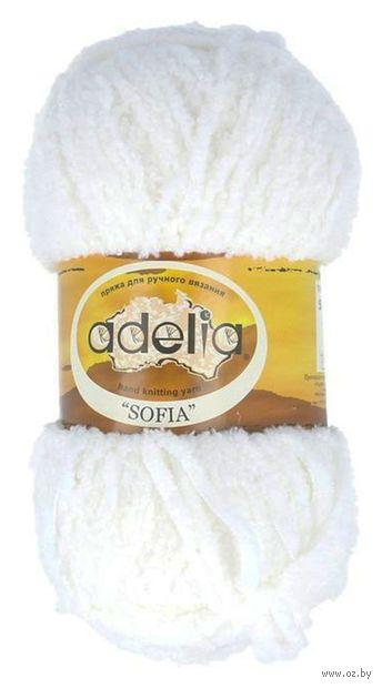 "Пряжа ""Adelia. Sofia №14"" (50 г; 90 м; белый) — фото, картинка"