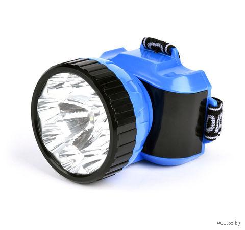 Аккумуляторный налобный фонарь 1 + 8 LED Smartbuy (синий)