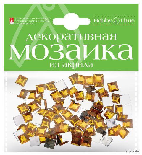 Мозаика декоративная из акрила №26 (8х8 мм; 100 шт.; темно-желтый) — фото, картинка