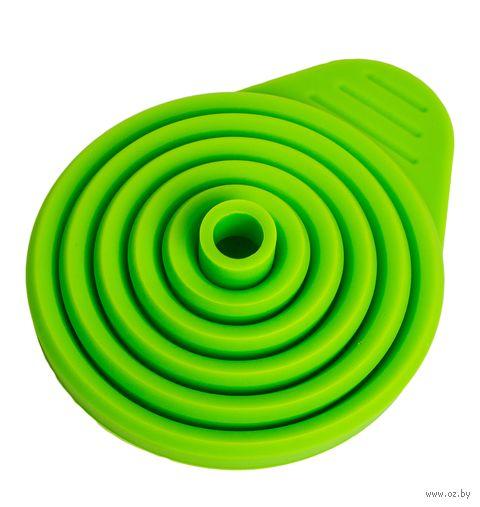 Воронка силиконовая складная (110x70 мм; зеленая) — фото, картинка