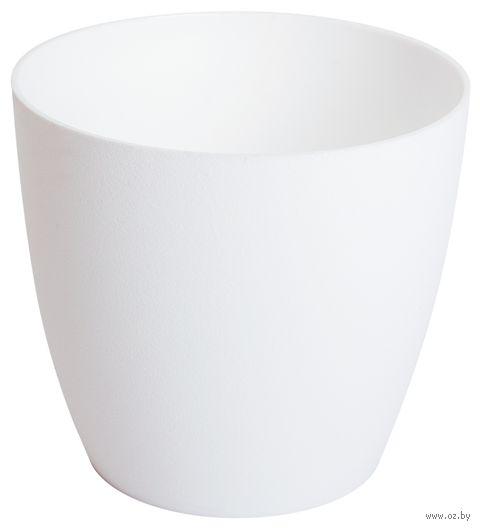 """Цветочный горшок """"Ага"""" (9,5 см; белый матовый) — фото, картинка"""