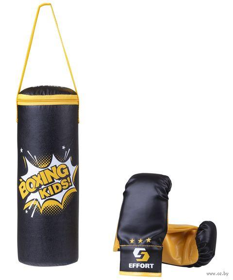 Набор для бокса детский (чёрный; арт. E1455) — фото, картинка
