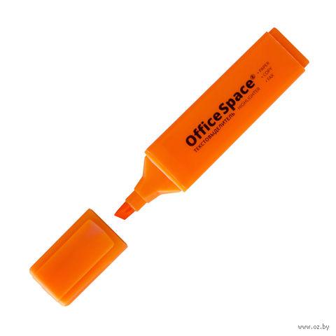 """Маркер текстовый """"OfficeSpace"""" (оранжевый) — фото, картинка"""