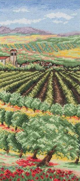 """Вышивка крестом """"Пейзаж с оливами. Италия"""""""