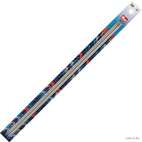 Спицы чулочные для вязания (алюминий; 3 мм; 30 см) — фото, картинка