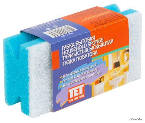 "Губка для уборки универсальная ""TET"" (130х65 мм) — фото, картинка"