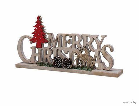"Фигурка для декора ""Merry Christmas"" (арт. CM8NV309621) — фото, картинка"