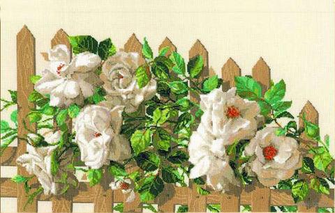 """Вышивка крестом """"Белые розы"""" (арт. 1059)"""