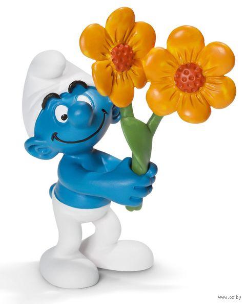 """Фигурка """"Гном с цветами"""" (6,5 см)"""