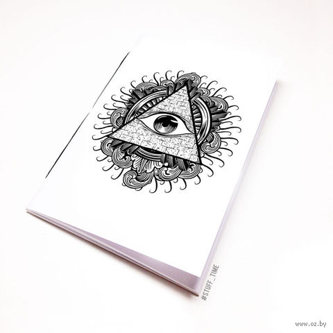 """Блокнот белый """"Всевидящее око"""" А5 (942)"""