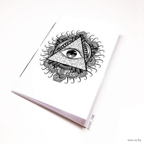 """Блокнот белый """"Всевидящее око"""" А5 (арт. 942)"""