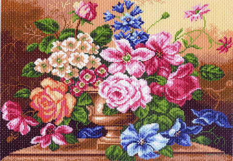 """Канва с нанесенным рисунком """"Цветочный вальс"""""""