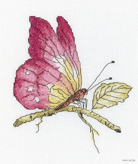 """Вышивка крестом """"Хрупкая красота в розовом"""""""