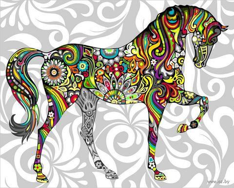 "Картина по номерам ""Радужная лошадь"" (400х500 мм) — фото, картинка"
