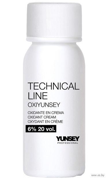 """Крем-перекись водорода для волос """"Professional Technical Line Oxidant Cream 6% - 20 vol"""" (60 мл) — фото, картинка"""