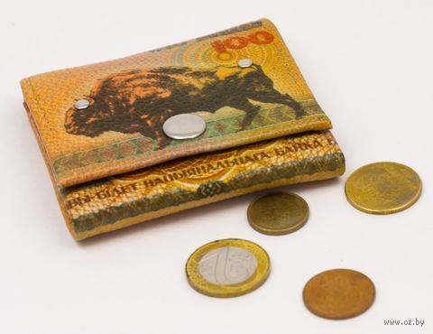 """Монетница прямоугольная """"Зубр"""" — фото, картинка"""
