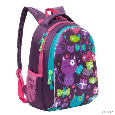 "Рюкзак ""Funny Cats"" (фиолетовый) — фото, картинка"