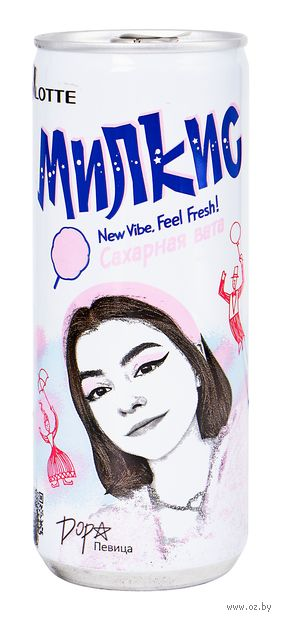 "Напиток газированный ""Milkis. Сахарная вата"" (250 мл) — фото, картинка"