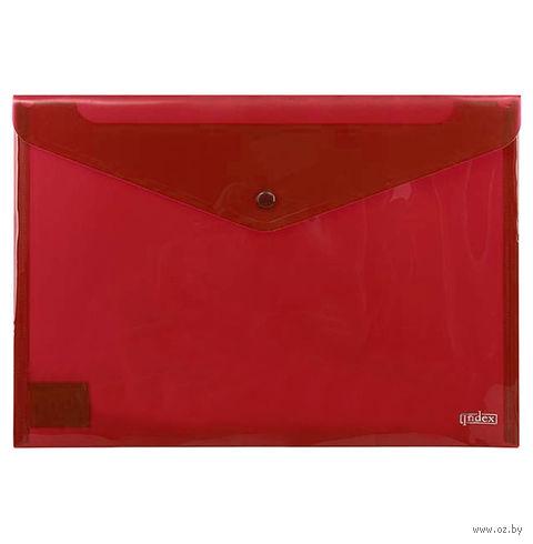 Папка-конверт (А4; красная) — фото, картинка