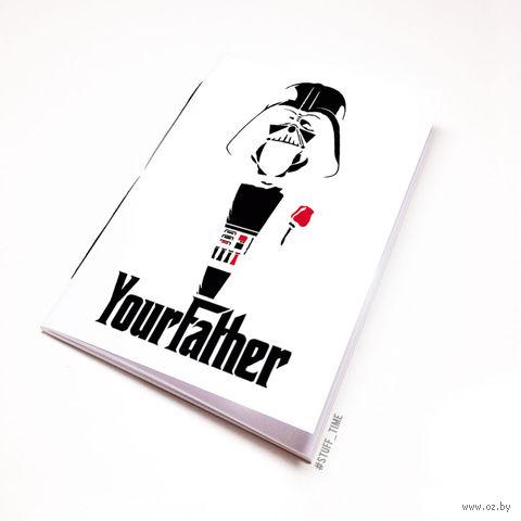 """Блокнот белый """"Дарт Вейдер. Крестный отец"""" А6 (009)"""