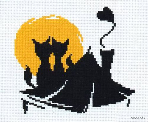 """Вышивка крестом """"Влюбленные коты"""" (150x130 мм; арт. 405В) — фото, картинка"""