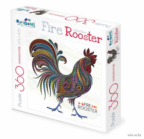 """Пазл """"Fire Rooster. Узорный петух"""" (360 элементов) — фото, картинка"""