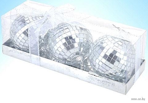 Набор шаров зеркальных декоративных (3 шт; 8 см)
