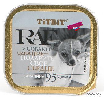 """Консервы для собак """"RAF"""" (100 г; баранина) — фото, картинка"""